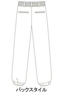 パンツ男女兼用 イラスト バックスタイル