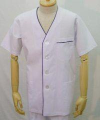 男性白衣半袖  UP