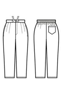 作務衣パンツ[男女兼用] イラスト