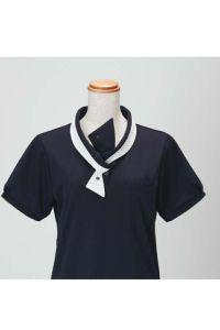 女性ポロシャツ半袖 リボン