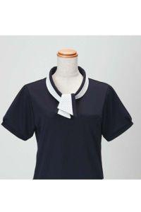 女性ポロシャツ半袖 リボン完成