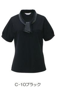 女性ポロシャツ半袖 ブラック