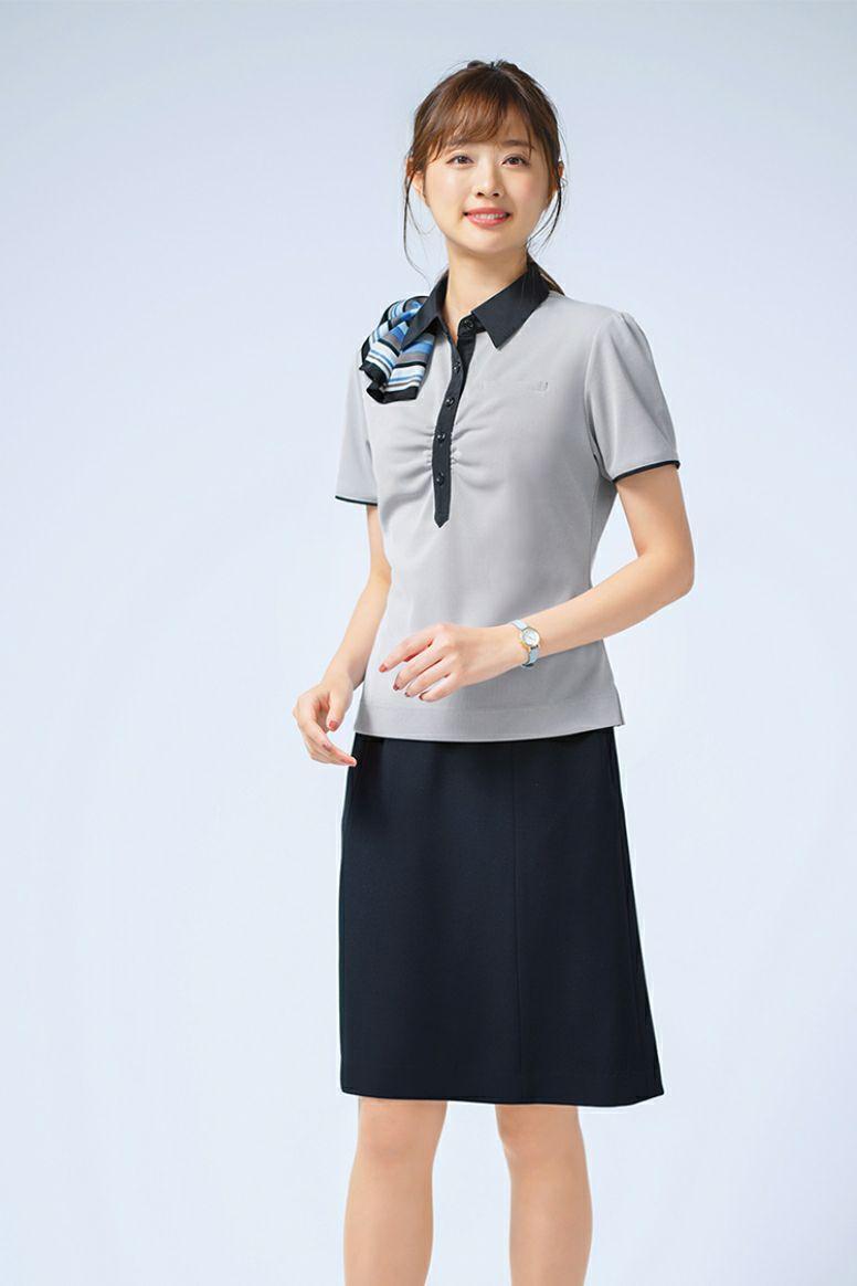 女性ポロシャツ半袖 全身
