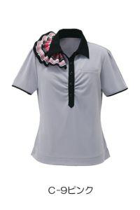 女性ポロシャツ半袖 ピンク