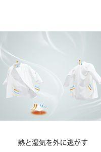 コックシャツ七分袖男女兼用 熱と湿気を外に逃す