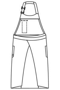 胸当てエプロン男女兼用 イラスト バックスタイル